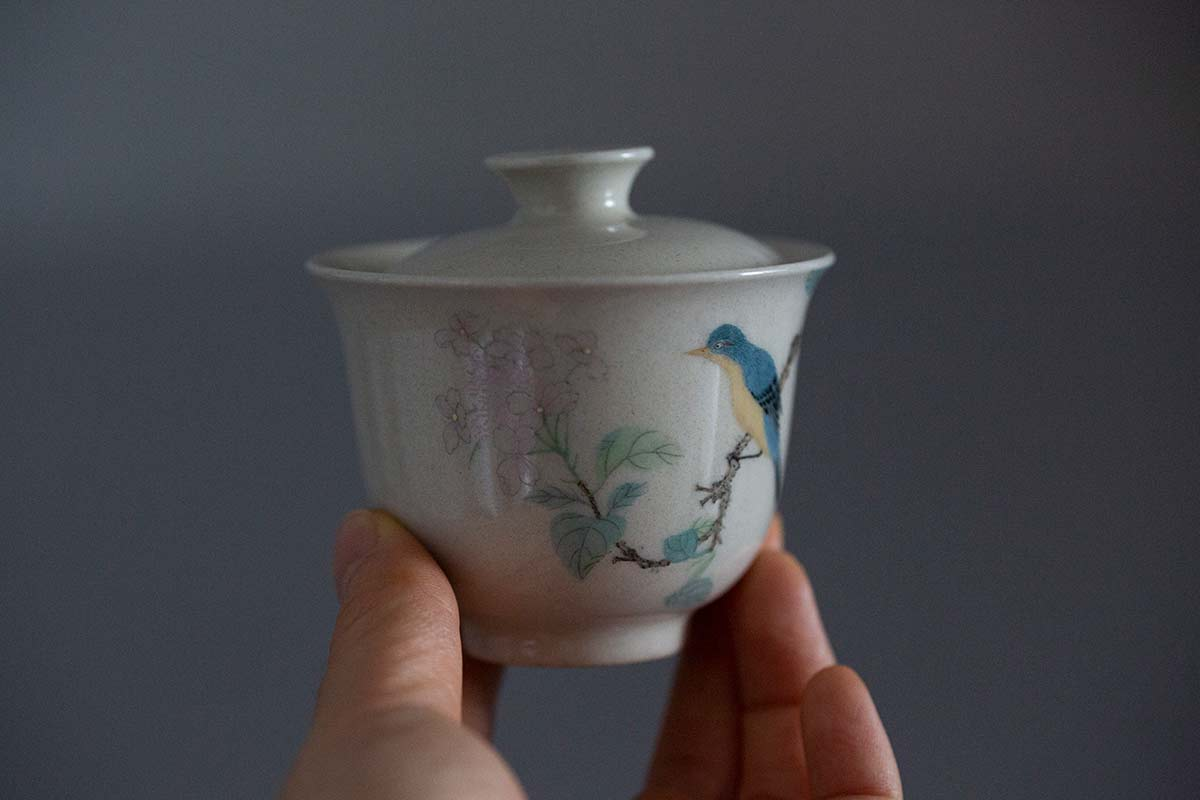 Doux Handpainted Gaiwan – Bird