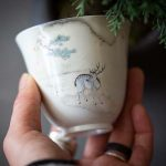 Sn-Oh Deer… Artist Series Wood Fired Teacup