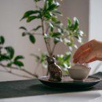 80s Antique Chocolate Cat Teapet